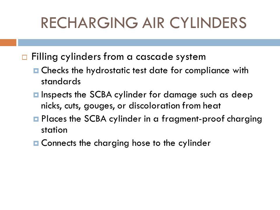 RECHARGING AIR CYLINDERS