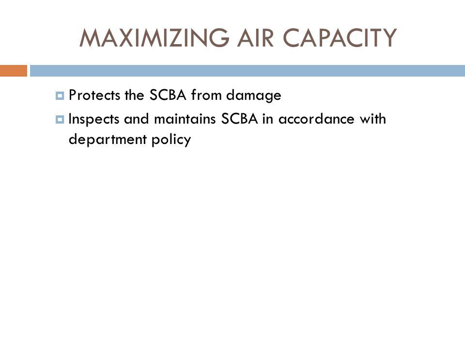 MAXIMIZING AIR CAPACITY