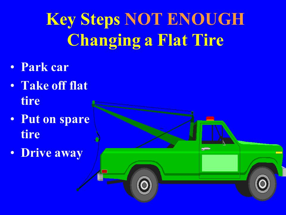 Key Steps NOT ENOUGH Changing a Flat Tire
