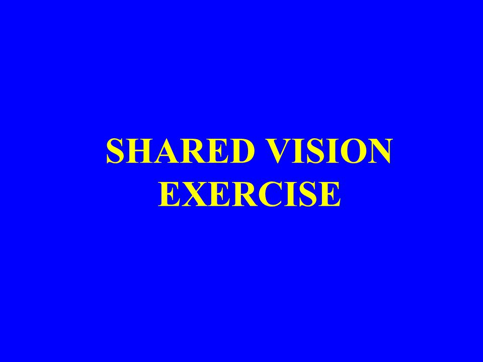 SHARED VISION EXERCISE