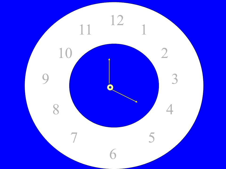 12 1. 2. 5. 4. 7. 8. 6. 3. 9. 10. 11. Divide a Watch/Clock into 4 Sections. Each section must equal 15.