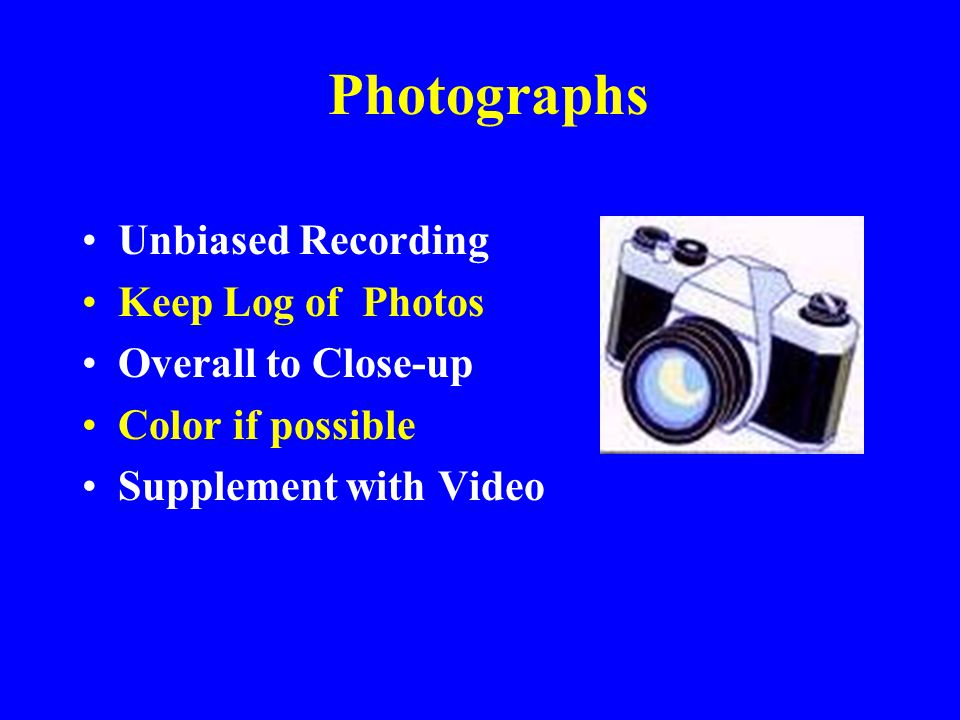 Photographs Unbiased Recording Keep Log of Photos Overall to Close-up