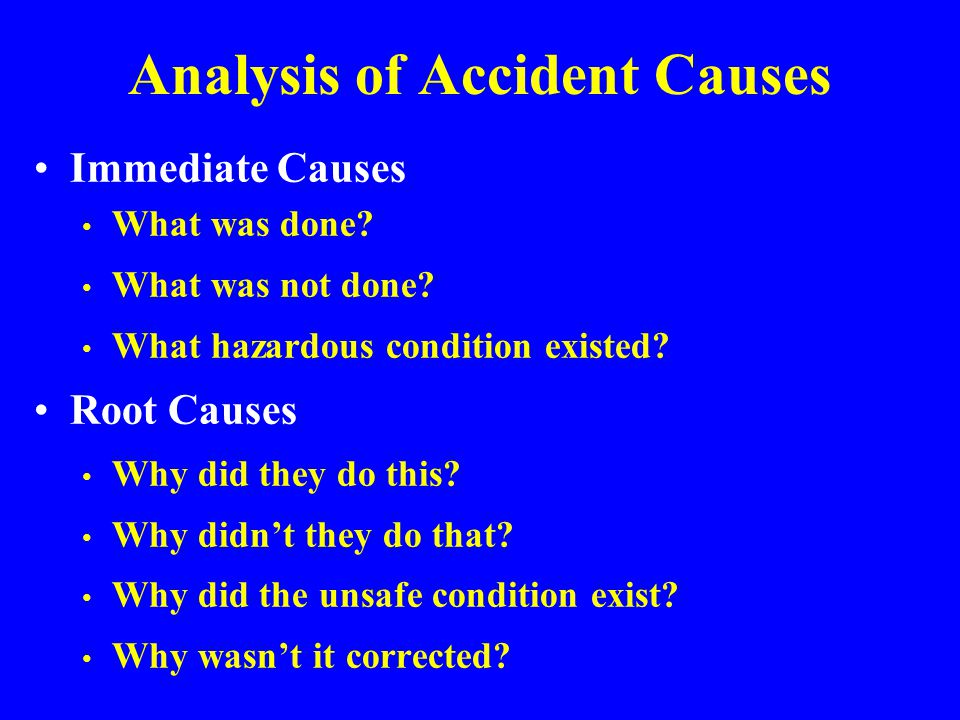 Analysis of Accident Causes