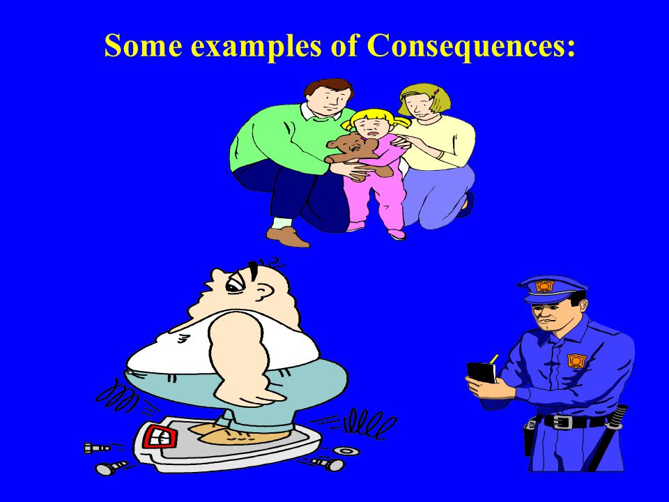 Some examples of Consequences: