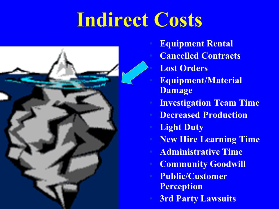 Indirect Costs Equipment Rental Cancelled Contracts Lost Orders