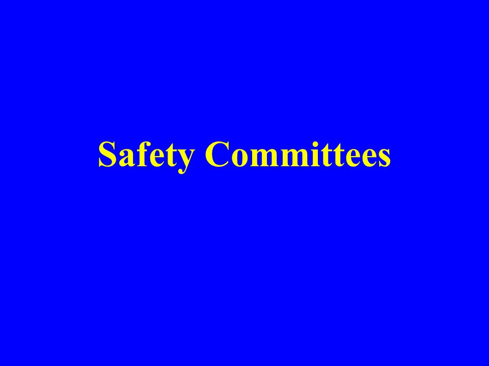 Safety Committees McGill University Office of Safety Phone Dialog.