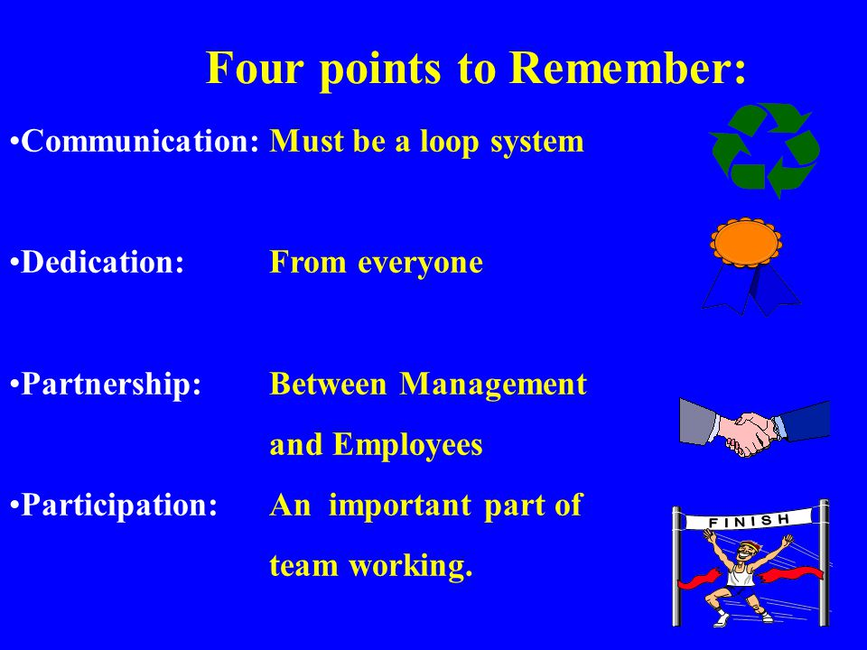 Four points to Remember:
