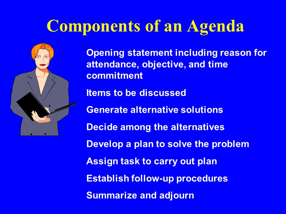 Components of an Agenda