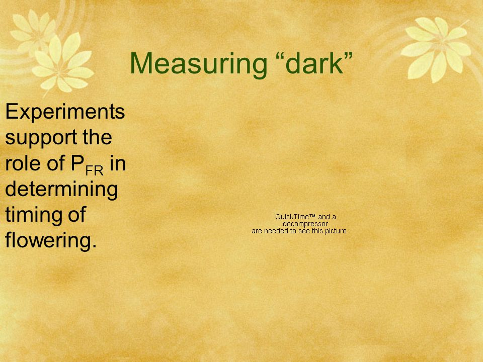 Measuring dark Experiments support the role of PFR in determining