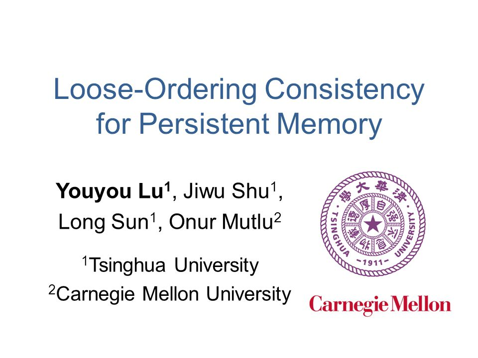 Loose-Ordering Consistency for Persistent Memory