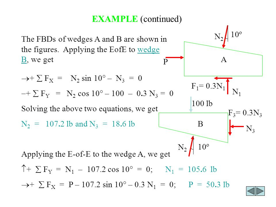 EXAMPLE (continued) 10º N2