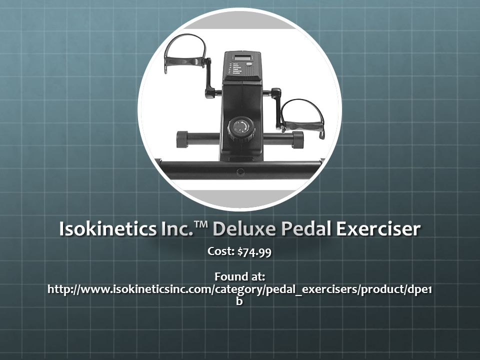 Isokinetics Inc.™ Deluxe Pedal Exerciser