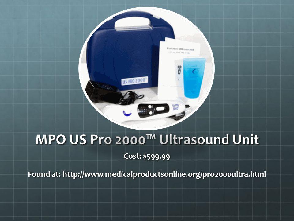 MPO US Pro 2000™ Ultrasound Unit