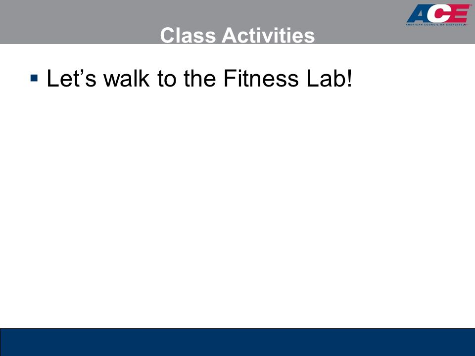 Let's walk to the Fitness Lab!
