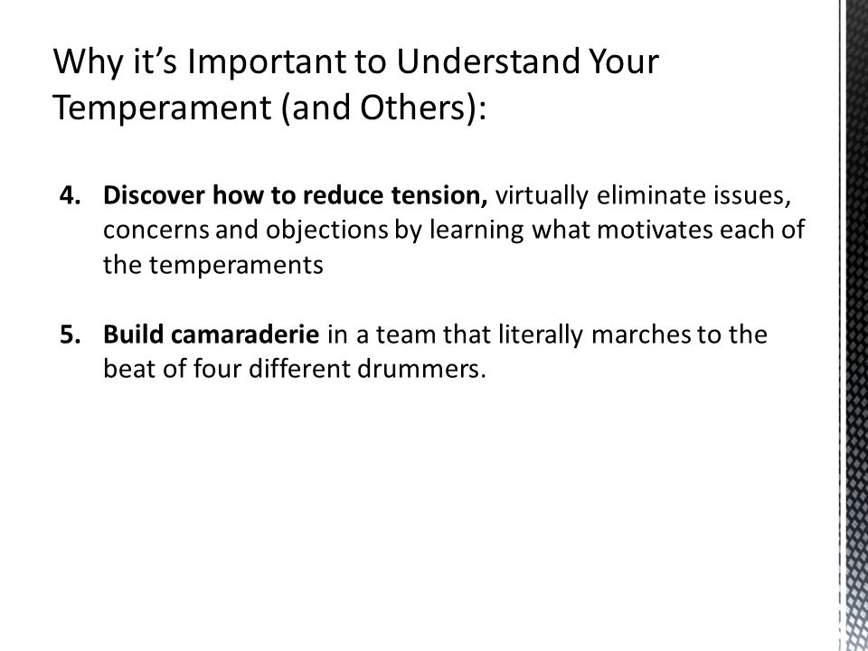 Why it's Important to Understand Your Temperament (and Others):