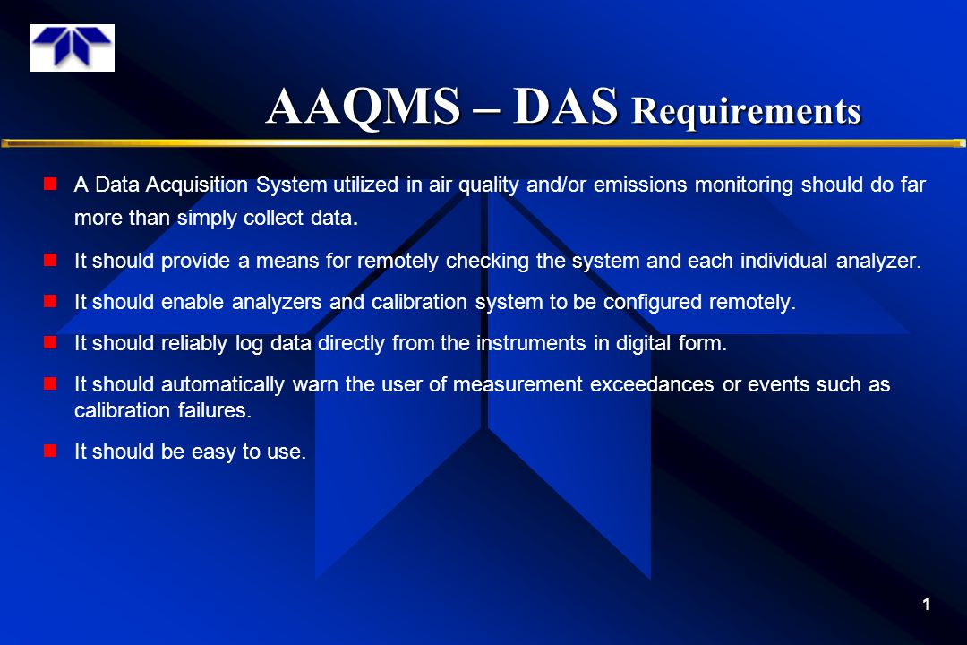 AAQMS – DAS Requirements