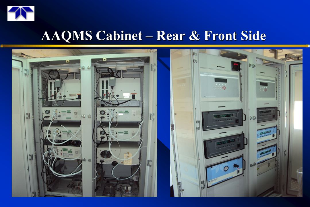 AAQMS Cabinet – Rear & Front Side