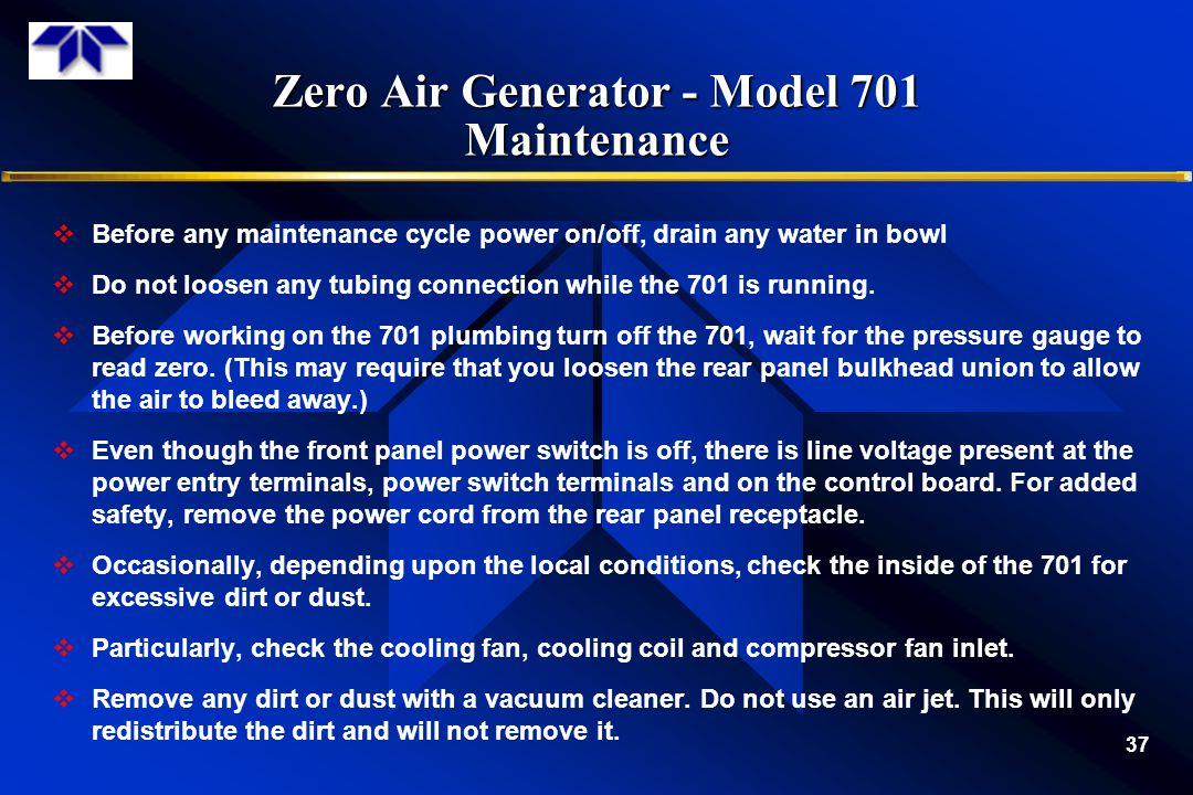 Zero Air Generator - Model 701 Maintenance
