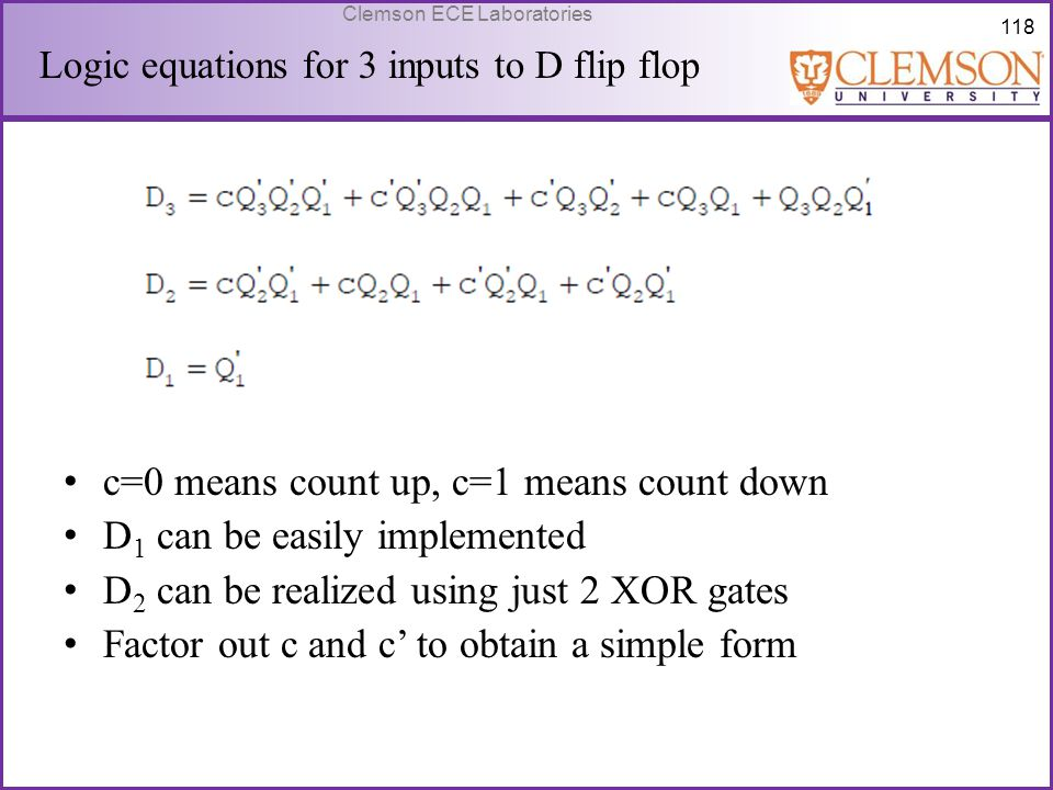 c=0 means count up, c=1 means count down D1 can be easily implemented