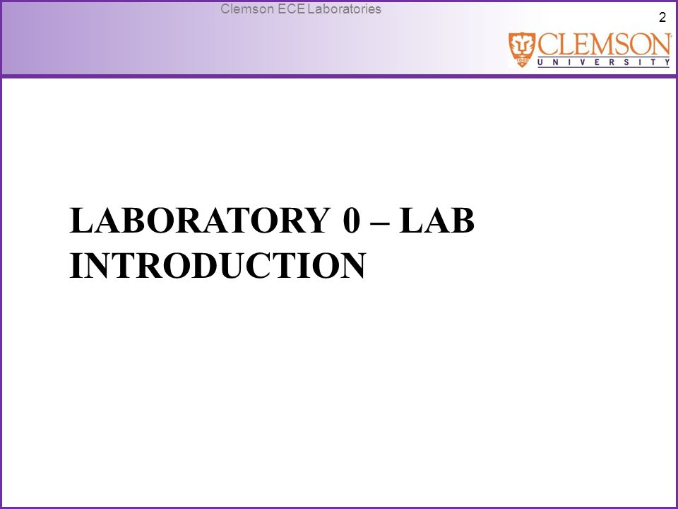 Laboratory 0 – Lab introduction
