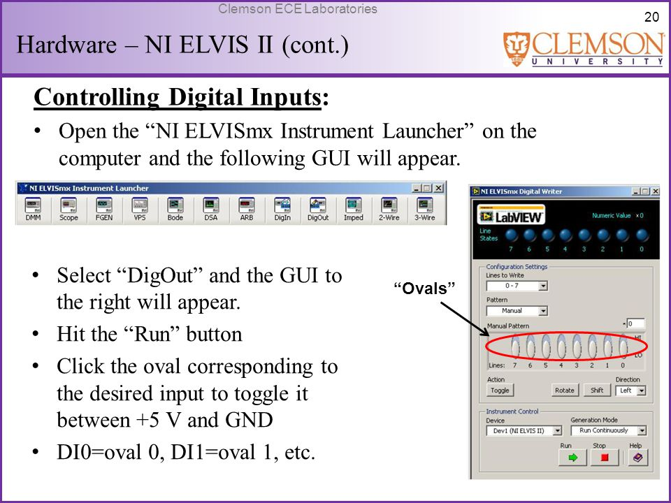 Hardware – NI ELVIS II (cont.)