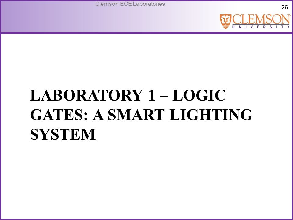 Laboratory 1 – Logic gates: A smart lighting system