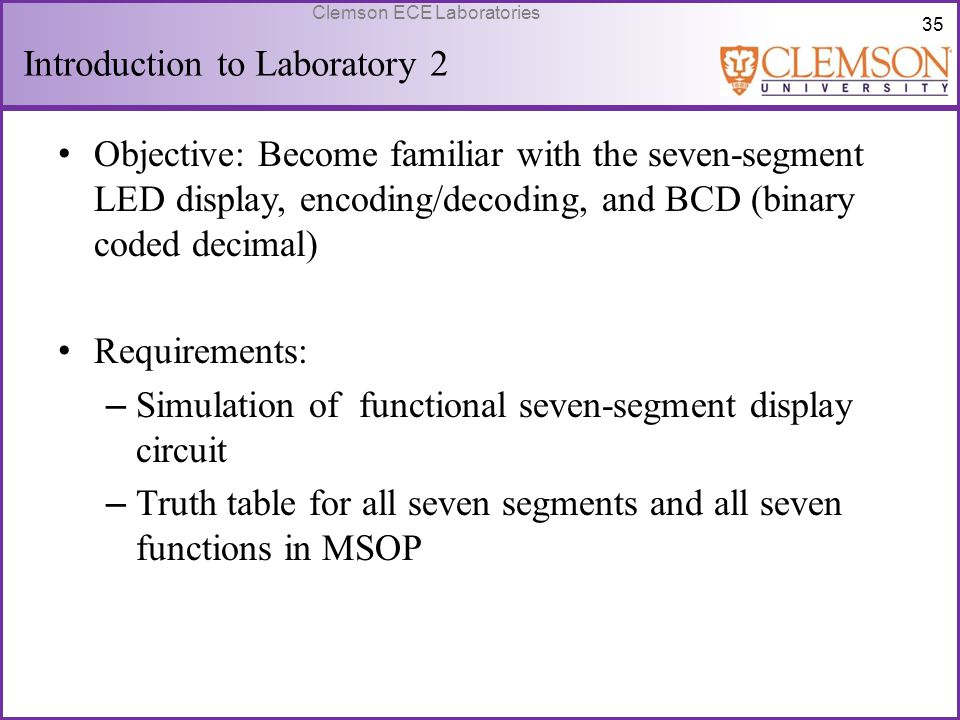 Introduction to Laboratory 2