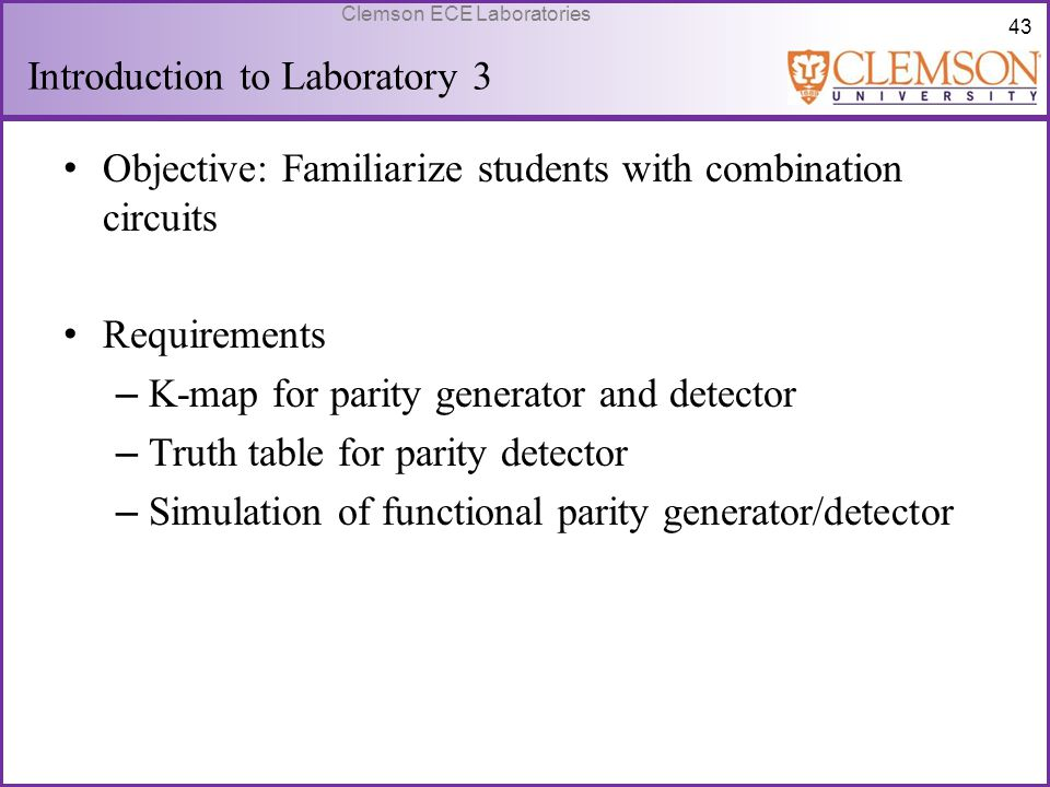 Introduction to Laboratory 3