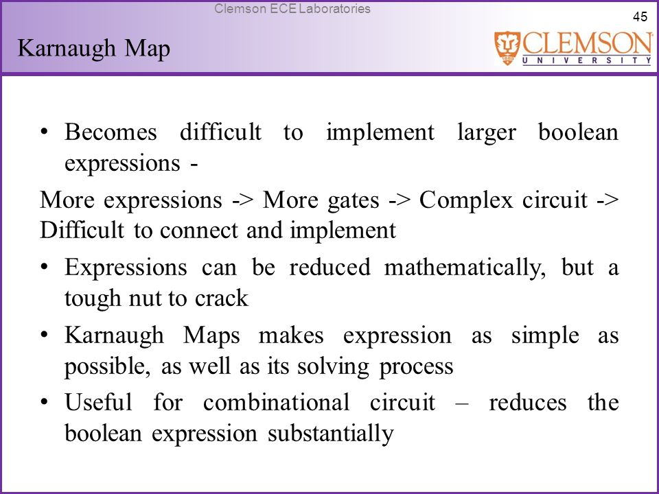 Karnaugh Map Becomes difficult to implement larger boolean expressions -