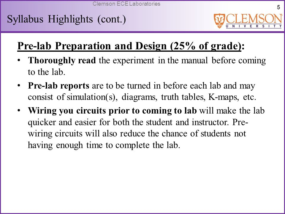 Syllabus Highlights (cont.)