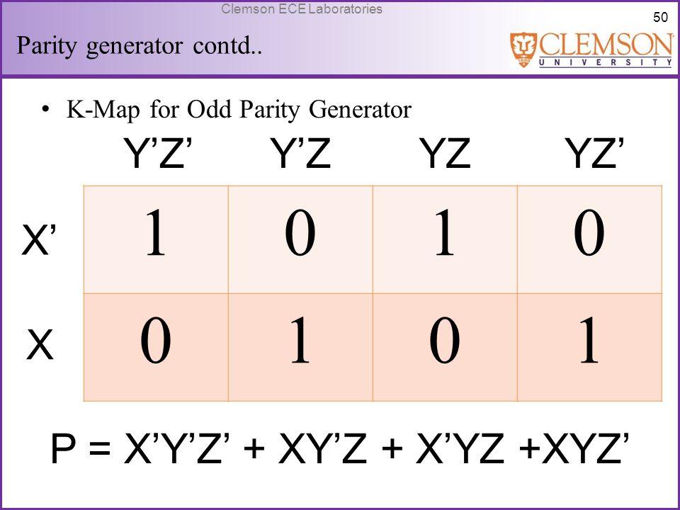 Parity generator contd..