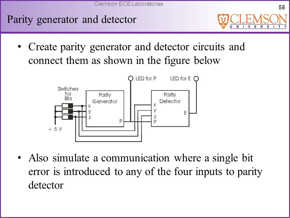 Parity generator and detector