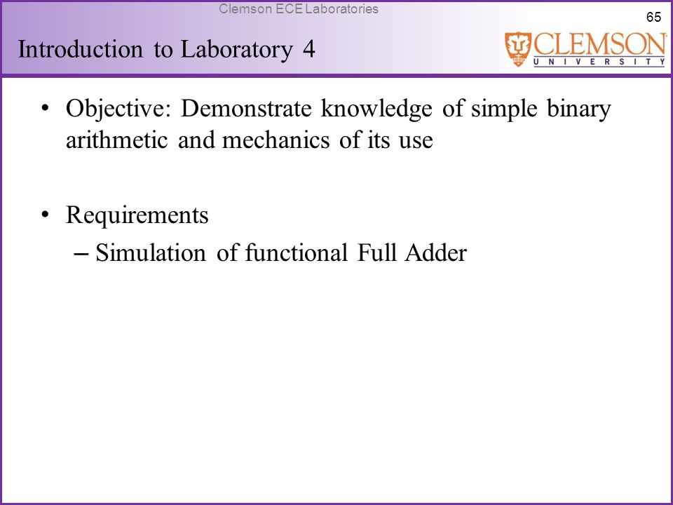 Introduction to Laboratory 4
