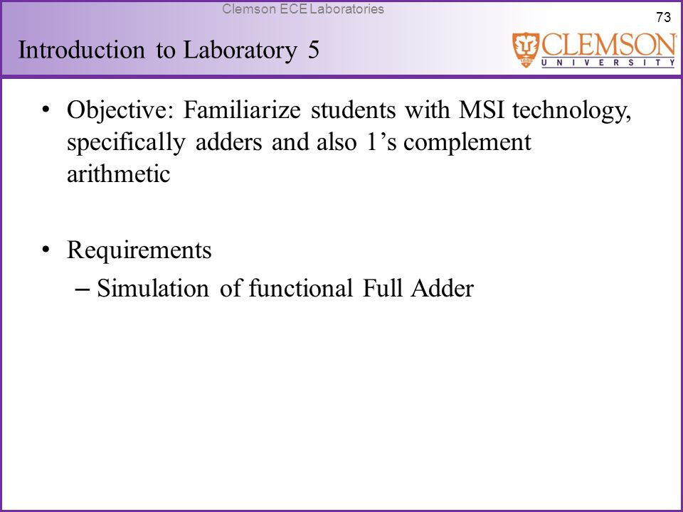 Introduction to Laboratory 5