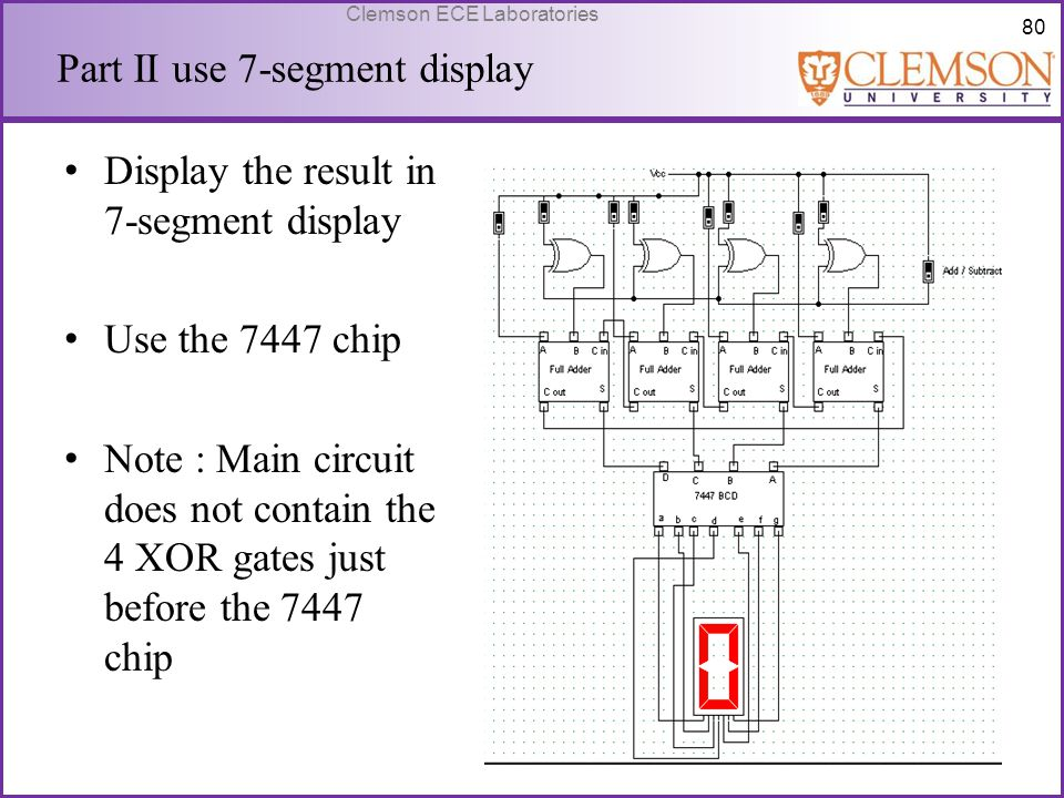 Part II use 7-segment display
