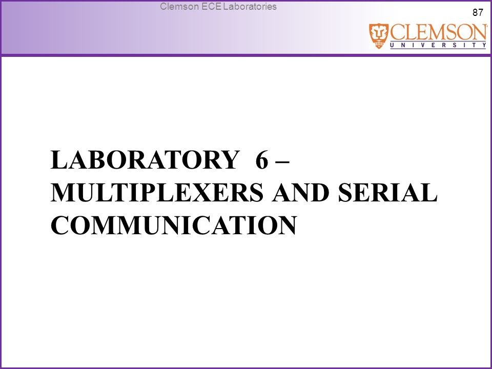 Laboratory 6 – Multiplexers and serial communication