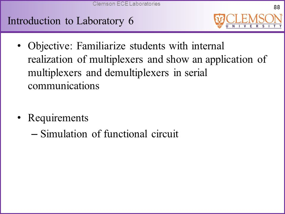 Introduction to Laboratory 6