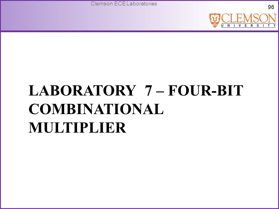 Laboratory 7 – Four-bit combinational multiplier