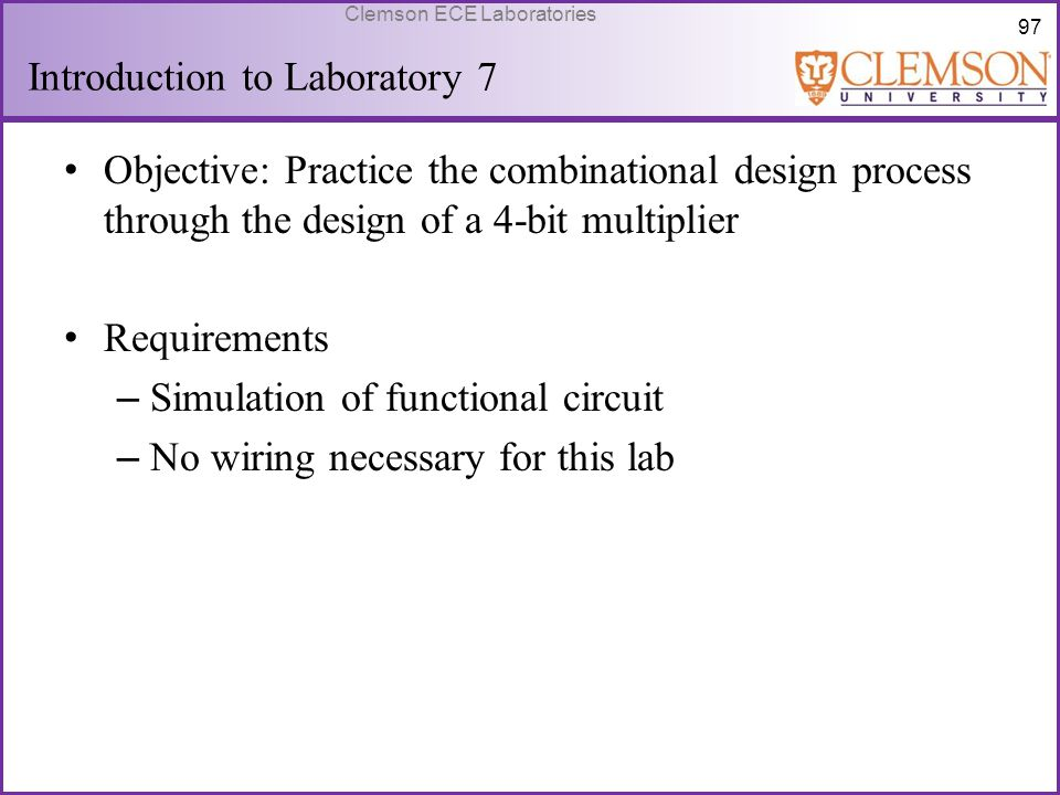 Introduction to Laboratory 7