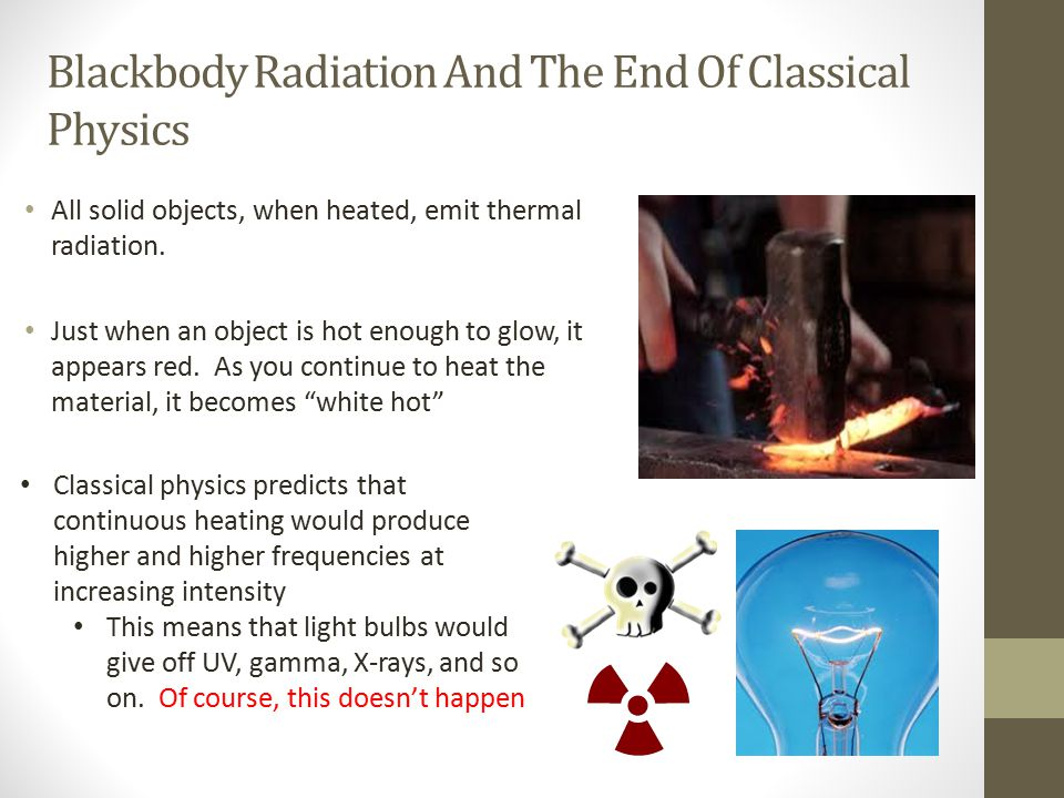 Blackbody Radiation And The End Of Classical Physics