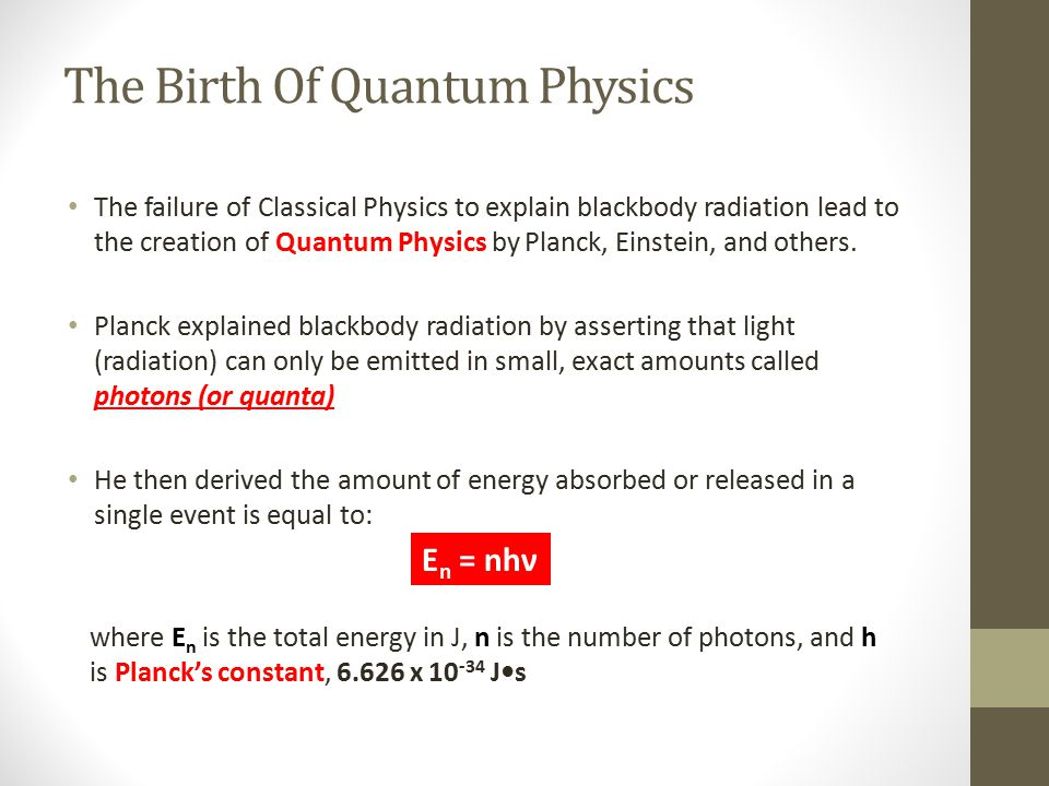 The Birth Of Quantum Physics