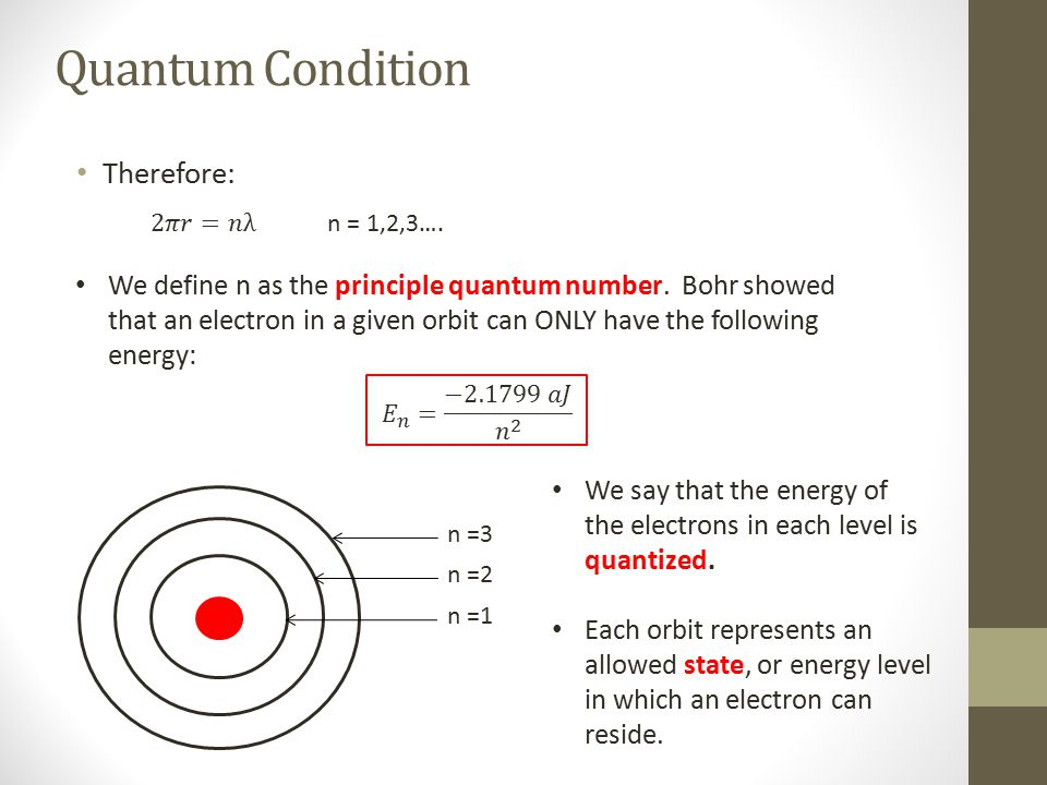 Quantum Condition Therefore: