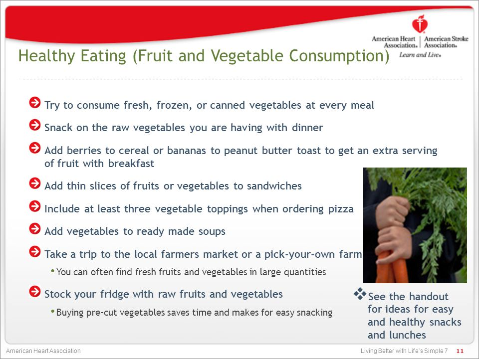 Healthy Eating (Fruit and Vegetable Consumption)
