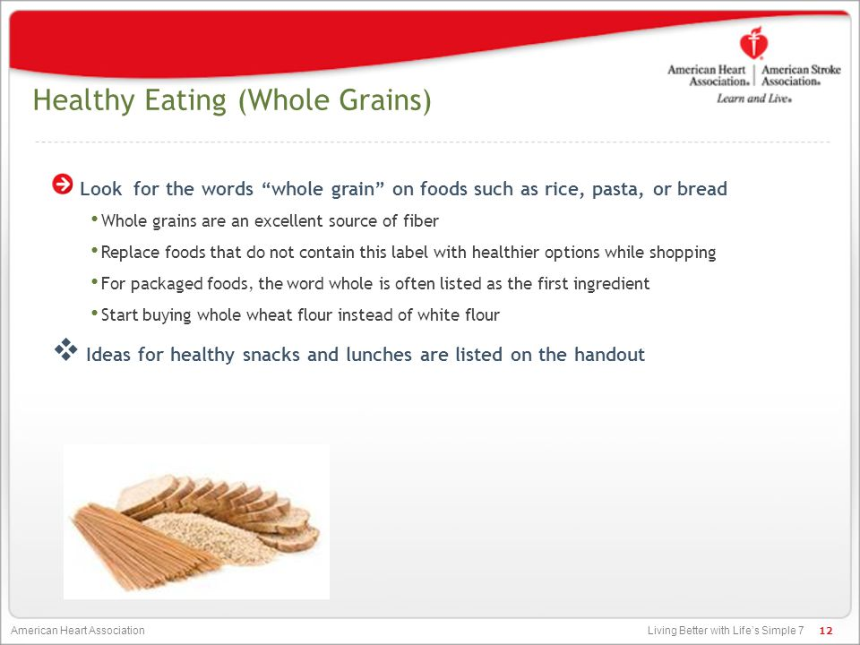 Healthy Eating (Whole Grains)