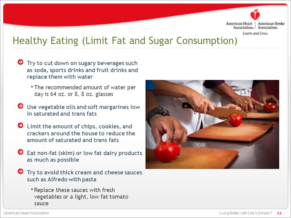 Healthy Eating (Limit Fat and Sugar Consumption)