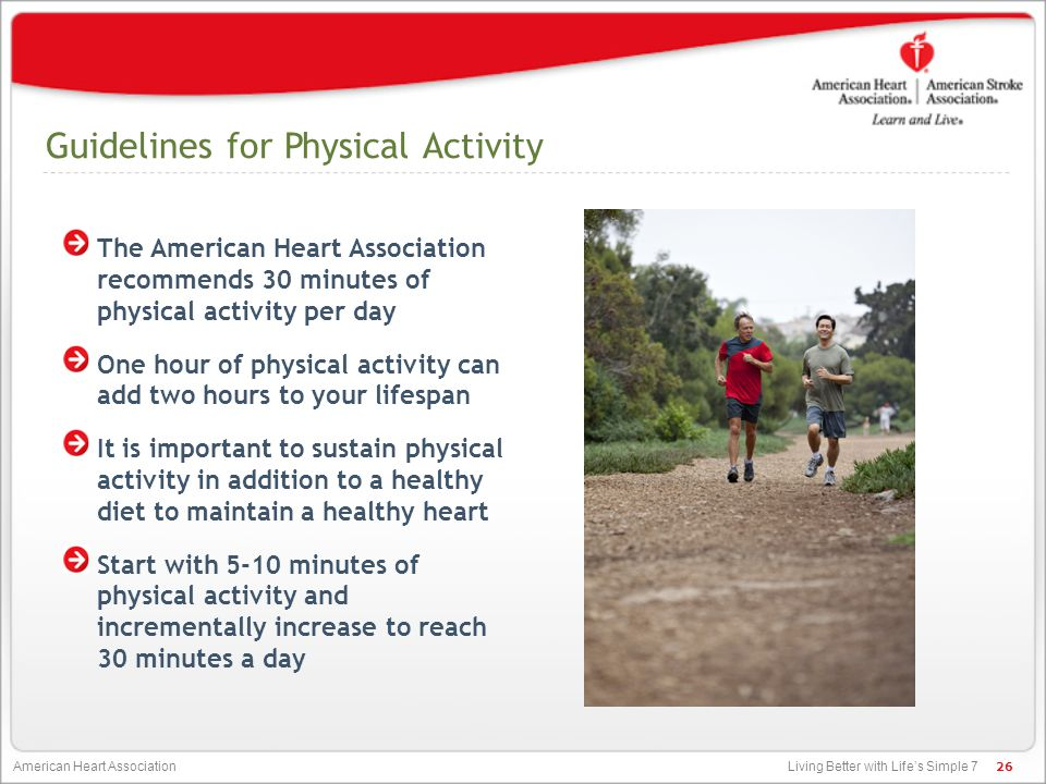 Guidelines for Physical Activity