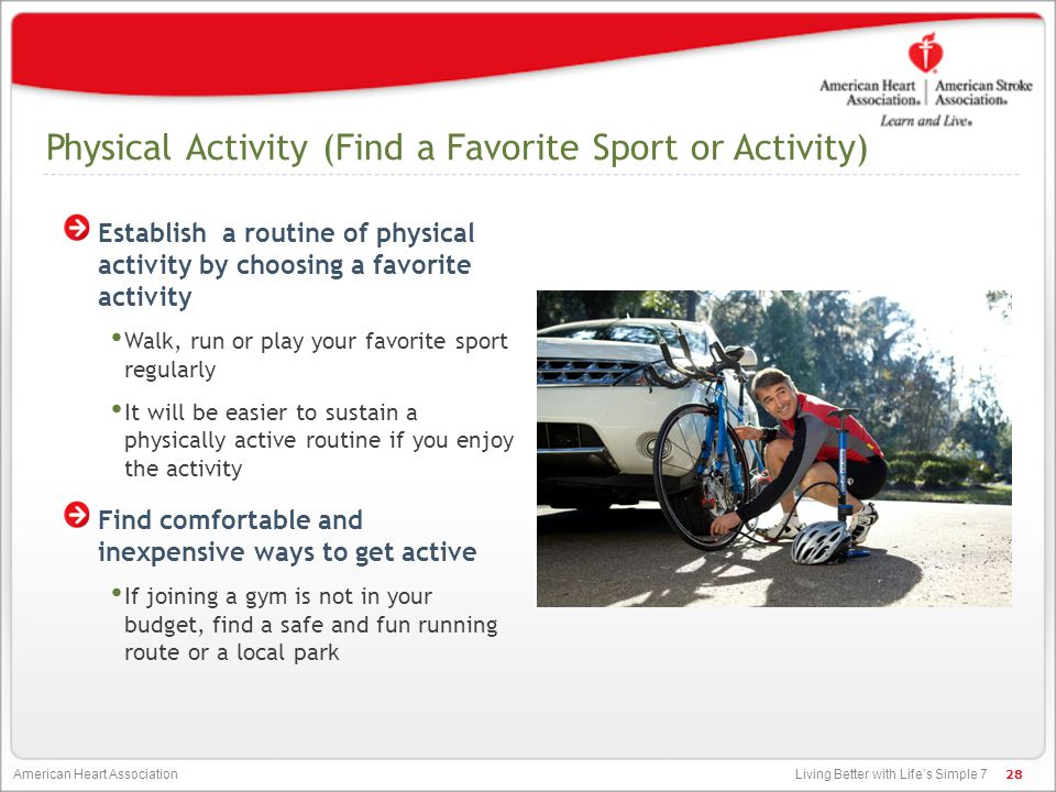 Physical Activity (Find a Favorite Sport or Activity)