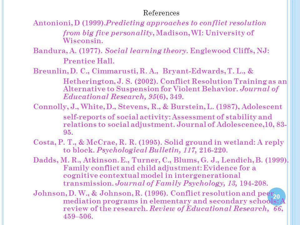 References Antonioni, D (1999)