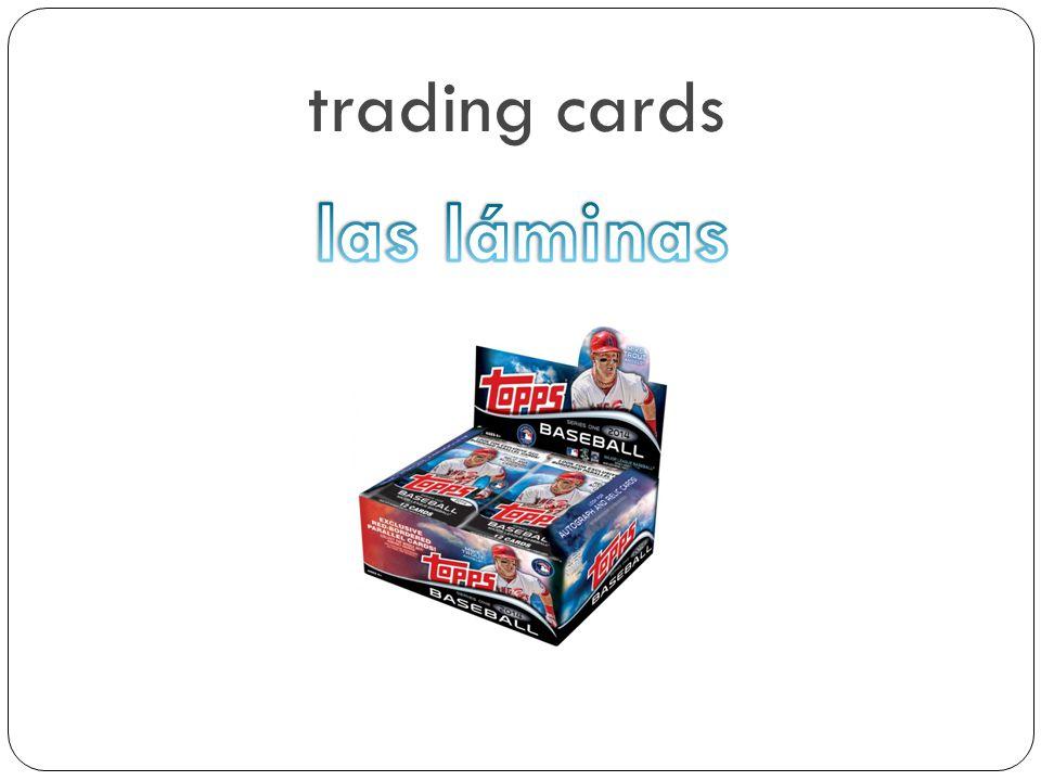 trading cards las láminas