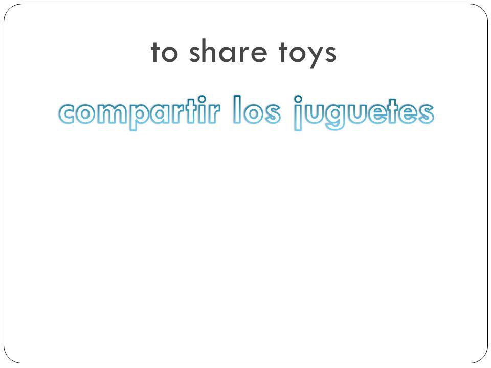 compartir los juguetes